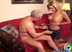 Hot slut, Summer Knight gently squeezes her tits as she gets her pussy drilled!